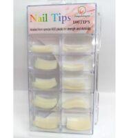 Boite de 100 faux ongles nail art manucure capsules blanc tips capsules