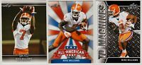 """3"" MIKE WILLIAMS 2017 LEAF DRAFT ""3"" CARD ROOKIE LOT! CLEMSON TIGERS!"