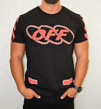 NEW OFF- White Men`s Black T-shirt Size:M SALE