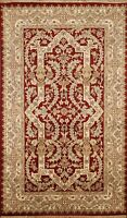 Vegetable Dye Fine Agra Oriental Floral Area Rug Hand-knotted Foyer Carpet 3'x5'