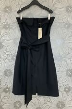Premier Asian Designer SEXY STRAPLESS Button-Front Off-shoulder Bustier DRESS XS