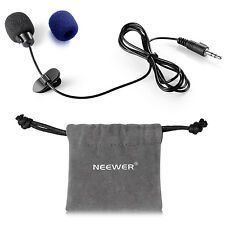 Neewer NW-802 3.5mm Deluxe Clip-on Lavalier Lapel Omnidirectional Microphone