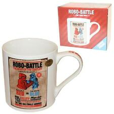 Retro Design Robo-Battle Robot Boxing Mug - Red & Blue