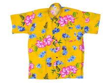 Hawaiihemd Hawaii Hawai Hemd gelb Hibiskus pink