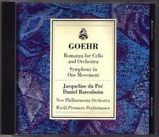 Jacqueline DU PRE: GOEHR Romanza for Cello & Orchestra Symphony BARENBOIM DOWNES