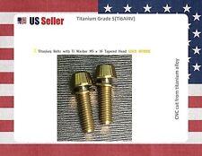 M5 x 16mm Titanium Bolt Taper Head / Ti Bolt 2 pcs - GOLD Nitride GR5 for stems