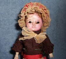 "10"" Antique German Paper Mache Doll~Wooden Arms~Halloween Dollhouse~Decoration"