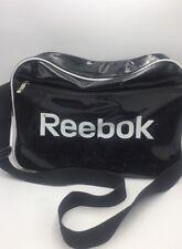 Authentic REEBOK Black Vinyl Gym Workout Bag Cross Body Shoulder Strap