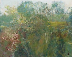 James Carlisle - 1937-2019 - Hedgerow landscape - jewel of a painting