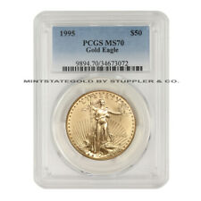 1995 $50 Gold Eagle PCGS MS70 American 22 KT 1oz Bullion Coin Low Pop of 24
