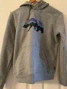 Patogonia gray hoodie sweatshirt Size Small EUC