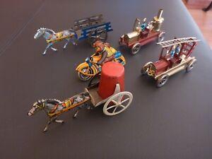 Penny Toys, Feuerwehr, Motorrad, Metall Modellauto, Blechspielzeug