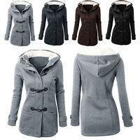 Fashion Winter Warm Women Trench Parka Hooded Coat Jacket Tops Outwear Overcoat