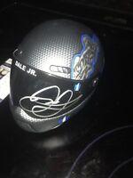 DALE EARNHARDT JR Signed Autographed  Dark Knight Batman  Mini Helmet JSA COA