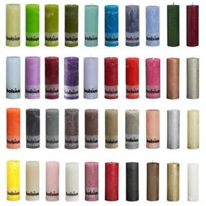 Bolsius Rustic Rustik Stumpenkerzen Blockkerze 190x68 Advent viele Farben