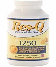 Res-Q 1250 Omega-3 Lemon Coated Fish Oil 200 Capsules