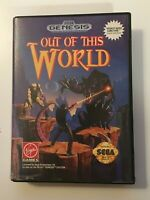 Out of This World (SEGA Genesis, 1994) BOX ONLY NO GAME