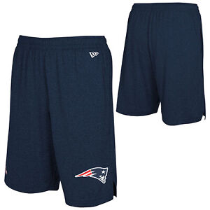 New Era NFL Football Mens New England Patriots Ground Running Performance Shorts