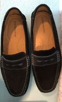 Men's Bass Loafers, Navy, Blue, Dressy, Suede, Size 10