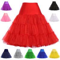 2017 Women Retro Underskirt 50s Swing Vintage Petticoat Tutu Fancy Short Skirts