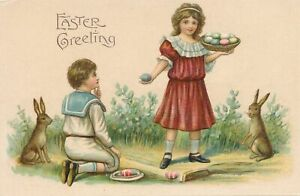 EASTER - Children, Rabbits and Eggs