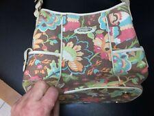 Spartina 449 Hobo Handbag Linen Leather Floral Print