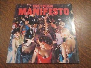 33 tours ROXY MUSIC manifesto