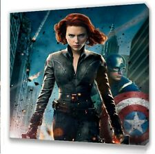 "Marvel Avengers Assemble Black Widow  Canvas 10""x10""  Framed Picture"