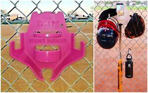 Softball Dugout Organizer The DOM Pink Bat Helmet Glove Bottle holder