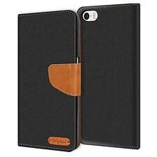 Verco Hülle für Apple iPhone 5C Schutzhülle Textil Tasche Flip Cover Handy Case