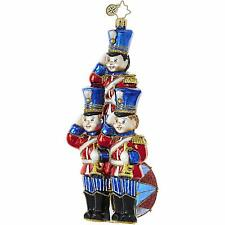 Radko Toy Soldier Trio Strike Up The Band Glass Ornament Made in Poland