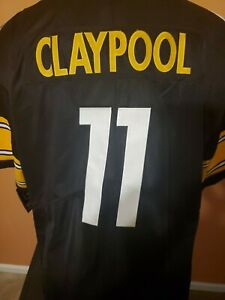 Pittsburgh Steelers Chase Claypool #11 Black Jersey  W/DMR Patch Size XL