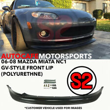 S2 Auto Design GV-Style Front Lip (Urethane) For 06-08 Mazda Miata MX5 MX-5