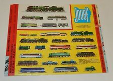 Ancien CATALOGUE Trains & Circuits Routiers JOUEF  : Motrices Locos Vapeur ...