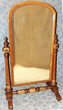 LARGE Stunning Antique William IV Carved Oak Cheval / Dressing Mirror (03)