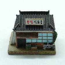 Miniature Korean small store in the 60s hand-painted last stop grocery store