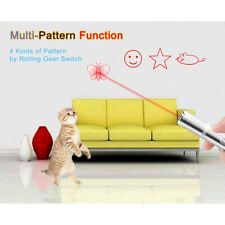 Multi-pattern Cat LED Laser Pet Toys Funny Red Laser Pointer Pen USB Charging