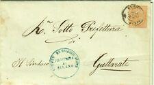 471-LOMBARDIA,SOLBIATE OLONA,TIMBRO DEL COMUNE,DOPPIO CERCHIO PER GALLARATE,1876
