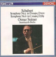 SCHUBERT Symphonies No 3 & No 6 Suitner CD Like N-ew
