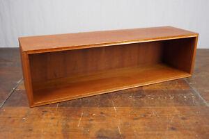 60er Bookcase Vintage Shelf Teak Riestenpatt Wall Shelf Danish Shelf System 2