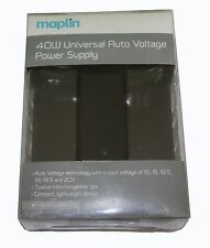 Maplin 40W Universal Auto Voltage Power Supply WITH 12 Tips -   RRP= £34.99