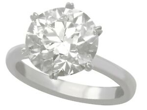 4.89 ct Solitaire Diamond Ring Size M