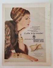 1958 trifari cuffs a-la mode gold bracelet vintage jewelry ad