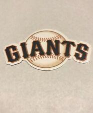 MLB and Team Logo Small Vinyl Die Cut Stickers San Francisco Giants