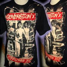 GENERATION X BILLY IDOL 100% UNIQUE    PUNK T SHIRT XL BAD CLOWN CLOTHING