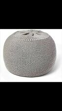 New Round Knit Pouf Ottoman Pouffe Footstool Sunsnap Poof Floor Cover Decor Seat