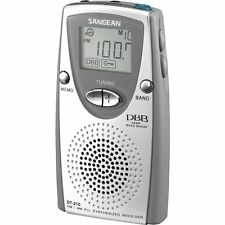 Sangean DT-210 FM-Stereo / AM Receiver PLL Synthesized Pocket Radio, Silver New