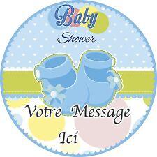 Naissance Baby Shower Deco Gateau Disque Azyme Comestible Fille Garcon 20cm