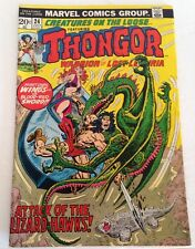 Creatures on the Loose #24 Thongor In Attack of the Lizard Hawks July 1973 VG+