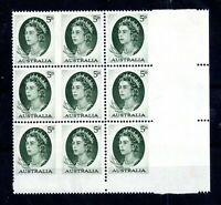 Australia 1964 QEII 5d imperf between stamps and in margin SG354b WS16966